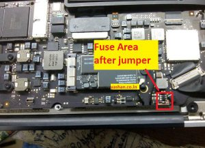 macbook air backlight fuse location